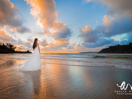 Bridal Session At Sunrise With Kaua'i Wedding Photographer Ashley Valera