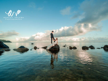 Secluded Bride & Groom Sunrise Session | With Kaua'i Wedding Photographer Ashley Valera.