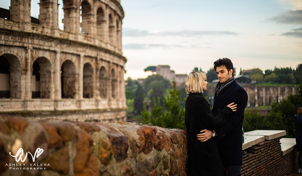 Rome, Italy Engagement Session At The Roman Colosseum