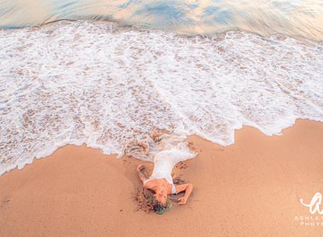 Beach Sunrise Bridal Session With Kaua'i Wedding Photographer Ashley Valera