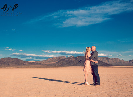 Engagement Session In Las Vegas at Spring's Preserve & A Dry Lake Bed