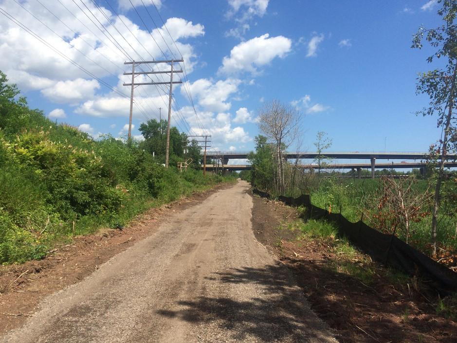 Looking east at Bong Bridge underpass