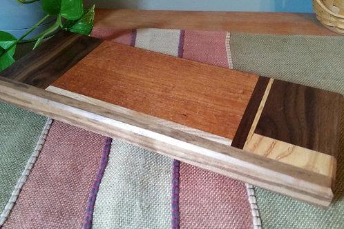 Mahogany, oak, ash and walnut sushi/serving board