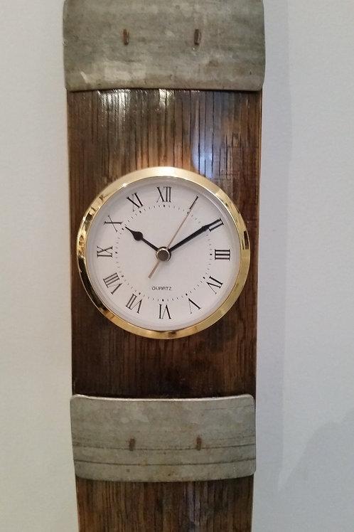 Wine Barrel Stave Wall Clock