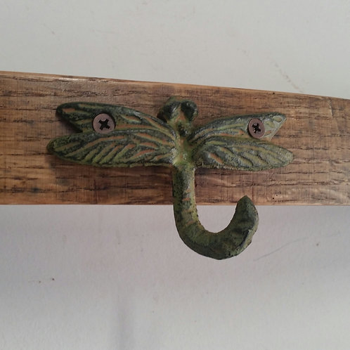 Wine Stave Dragonfly Coat Rack