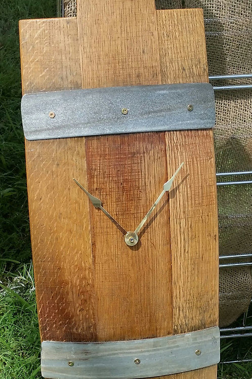 Wine Barrel 3 Stave Wall Clock