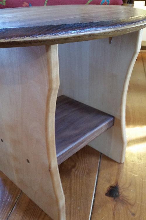 Custom Wine Barrel Top End Table