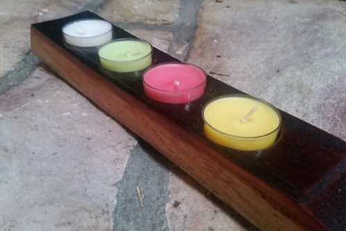 Wine stave Tea Light Candle Holder