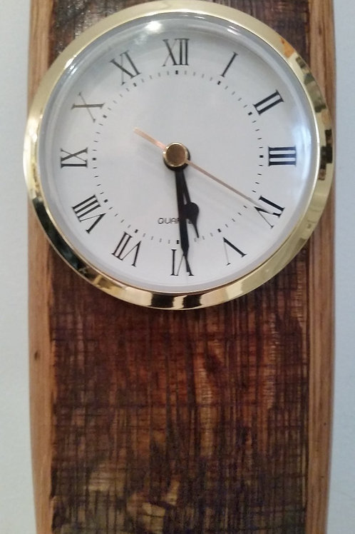 Wine Barrel Stave Wall Clock