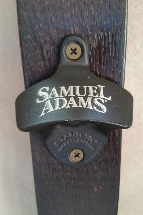 Samuel Adams Bottle Opener on Wine Barrel Stave