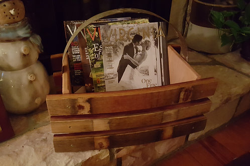 Wine Stave Magazine Box with Banding