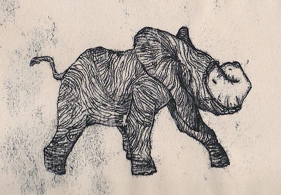 Plastic Tears Series (Elephant), 24cm x 30cm