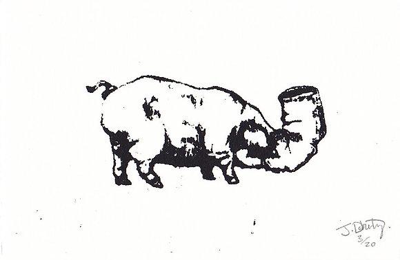 Plastic Tears Series (Pig), A6, 2014