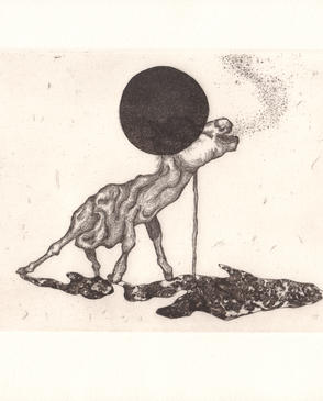 I'm Just Propped Up Not Standing_etching