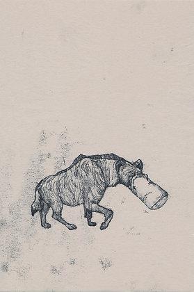 Plastic Tears Series (Hyena), 24cm x 30cm