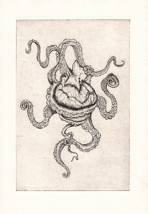 The Monster Swims within our Blood | Etching