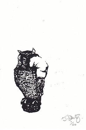 Plastic Tears Series (Owl), A6, 2014