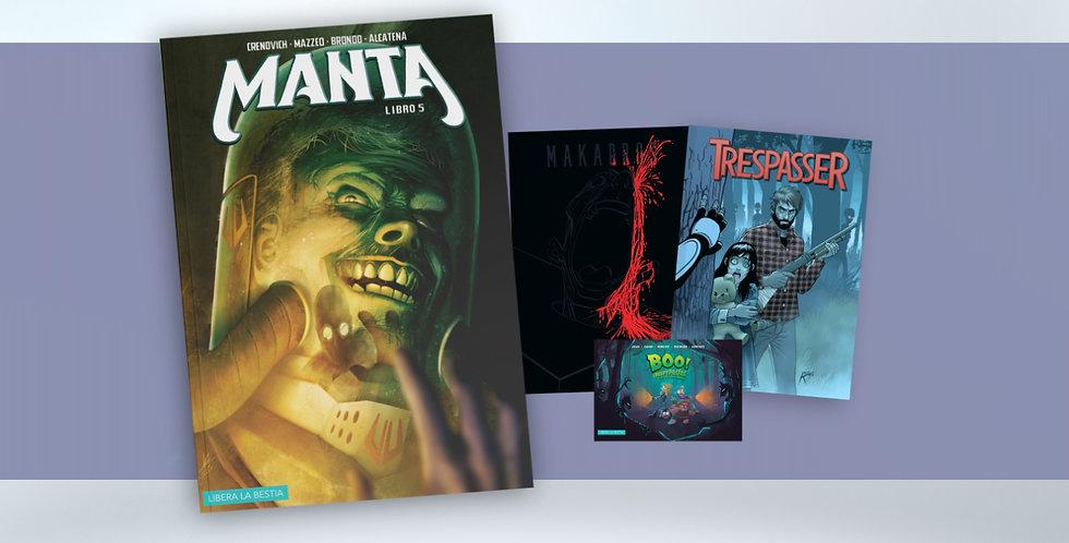 Manta libro 05 + Catálogo de terror