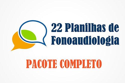 Fonoaudiologia - Planilhas de fonemas e audiologia