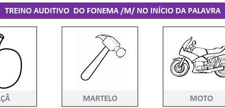 MANUAL DA PLANILHA DE FONOAUDIOLOGIA TREINO DO FONEMA M
