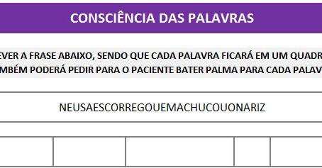 MANUAL DA PLANILHA DE FONOAUDIOLOGIA TREINO DO FONEMA N