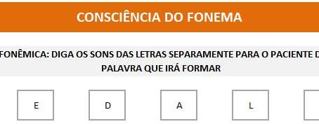 MANUAL DA PLANILHA DE FONOAUDIOLOGIA TREINO DO FONEMA D