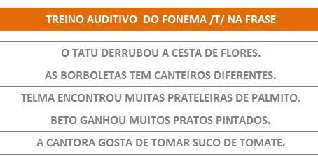 MANUAL DA PLANILHA DE FONOAUDIOLOGIA TREINO DO FONEMA T