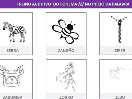 MANUAL DA PLANILHA DE FONOAUDIOLOGIA TREINO DO FONEMA Z