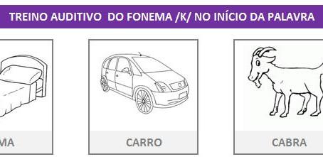 MANUAL DA PLANILHA DE FONOAUDIOLOGIA TREINO DO FONEMA K