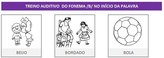 Fonoaudiologia treino do fonema B