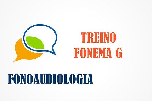 Fonoaudiologia - Treino do Fonema G