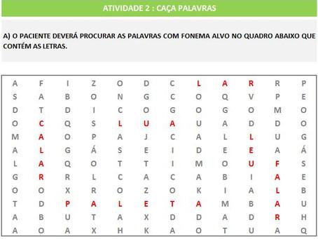 MANUAL DA PLANILHA DE FONOAUDIOLOGIA TREINO DO FONEMA L