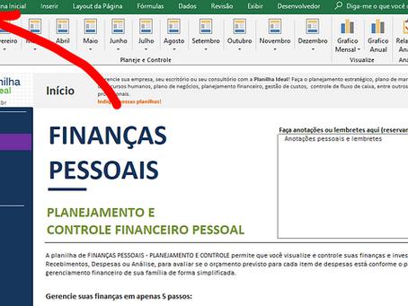 Manual da planilha Avançada de Planejamento e Controle Financeiro Pessoal no Excel