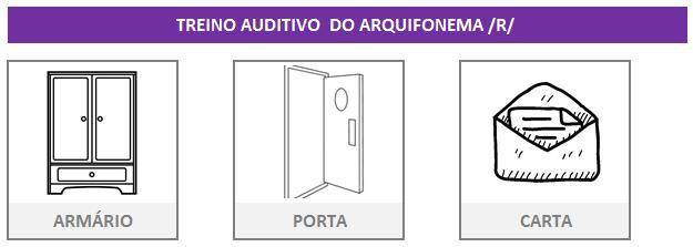 Treino de fonoaudiologia arquifonema R