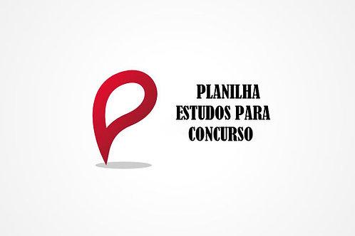 Planilha de Planejamento para Concursos