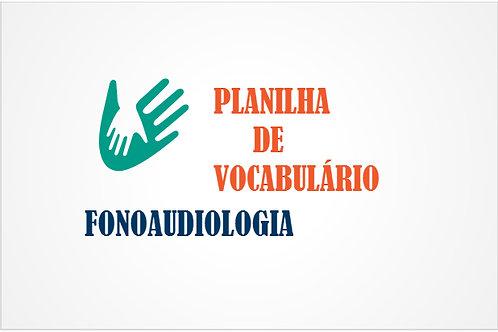 Fonoaudiologia - Vocabulário