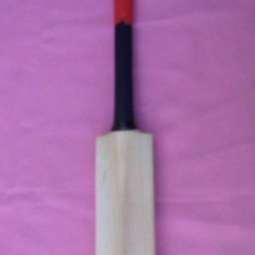 Malik Plain Bat (Grip -- Black & RED)