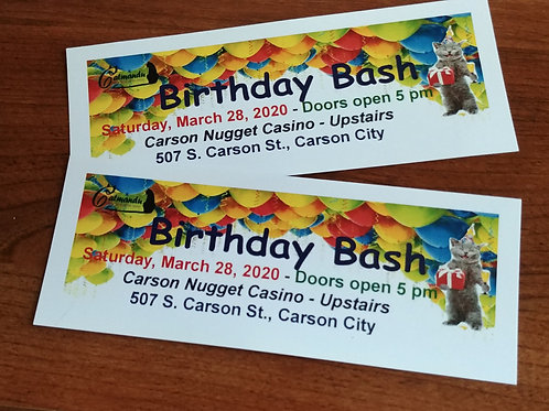 Raffle to win 2 tickets to Birthday Bash on March 28