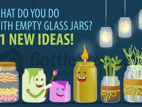 What to do with empty glass jars?