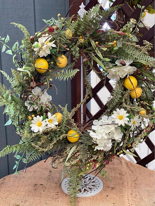 Lemons & Daisies Decorative Wreath