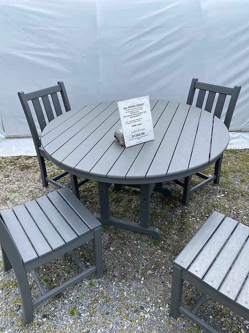 """48"""" Round Dining Set with 4 Dining Chairs"""
