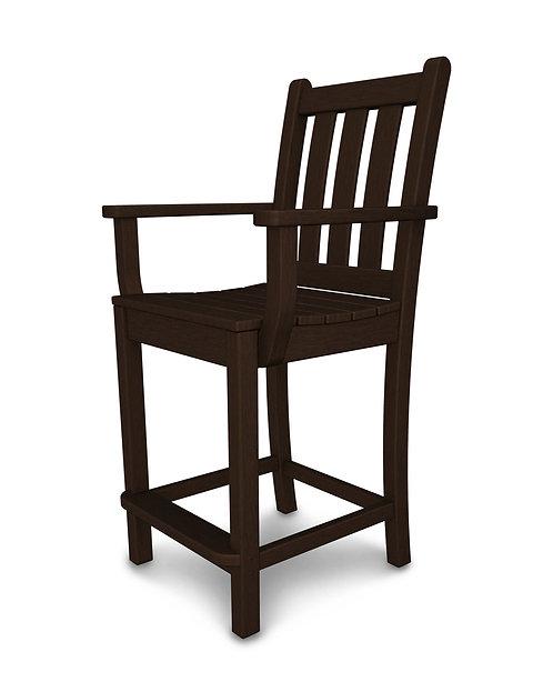 Traditional Garden Counter Arm Chair