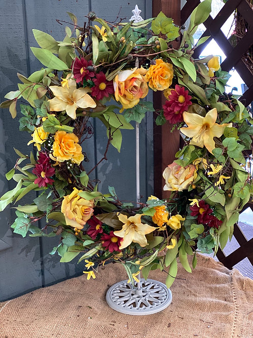 Yellow Love Decorative Wreath