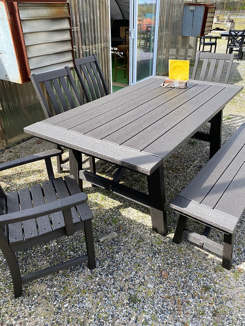 """75"""" Rectangular Dining Table with 2 Arm Chairs/2 Armless Chairs/Bench"""