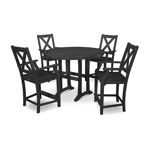 Braxton 5-Piece Nautical Trestle Arm Chair Counter Set