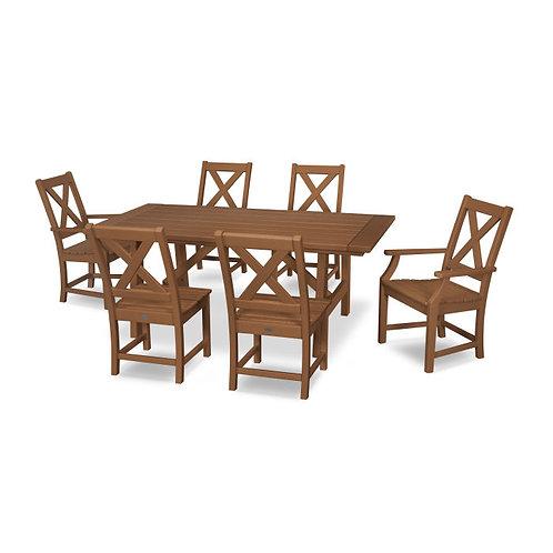 Braxton 7-Piece Rustic Farmhouse Dining Set
