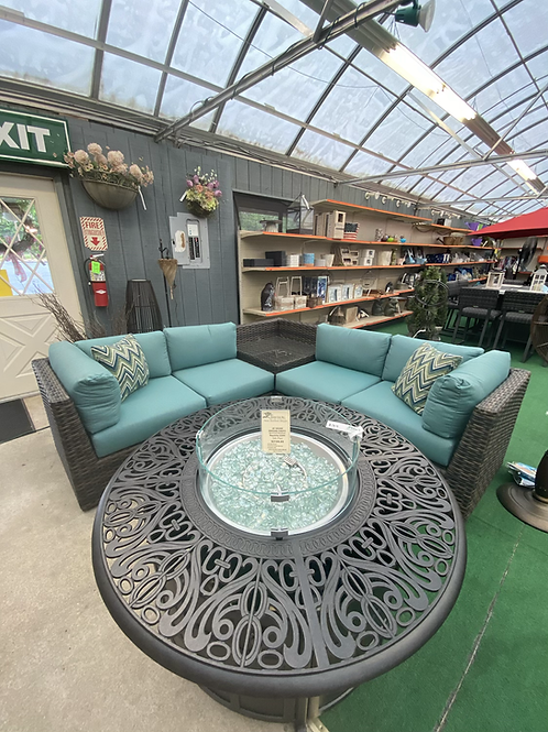 5 Pc Sectional Set with Corner Table