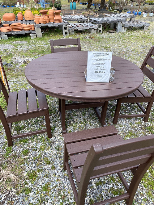 """48"""" Round Table with 4 Armless Dining Chairs"""
