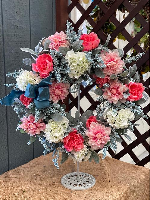 Coral Julep Decorative Wreath