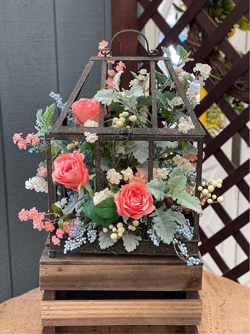 Bright Floral Open Terrarium